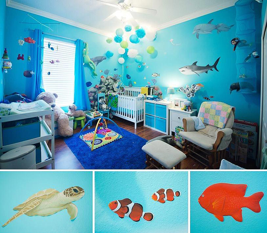 Terrific Ocean Themed Baby Room Euskal Net Largest Home Design Picture Inspirations Pitcheantrous